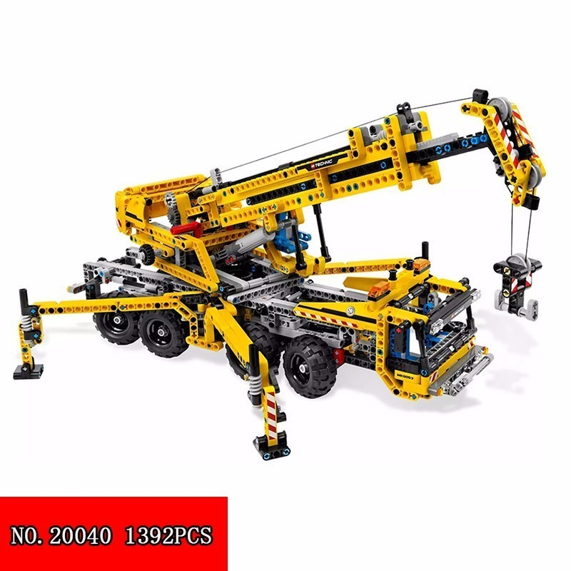 Lepin Happy 20040 Science And Technology Mechanics Crane Spelling Insert Assembling Building Block Toys Alpinia 1392pcs Blocks другие beijing legal compass on education science and technology 2015