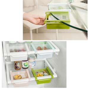 Kitchen Refrigerator Storage Box Pull-out Drawers Fresh Sort Organizer Food Container Fresh Spacer Layer Storage Rack