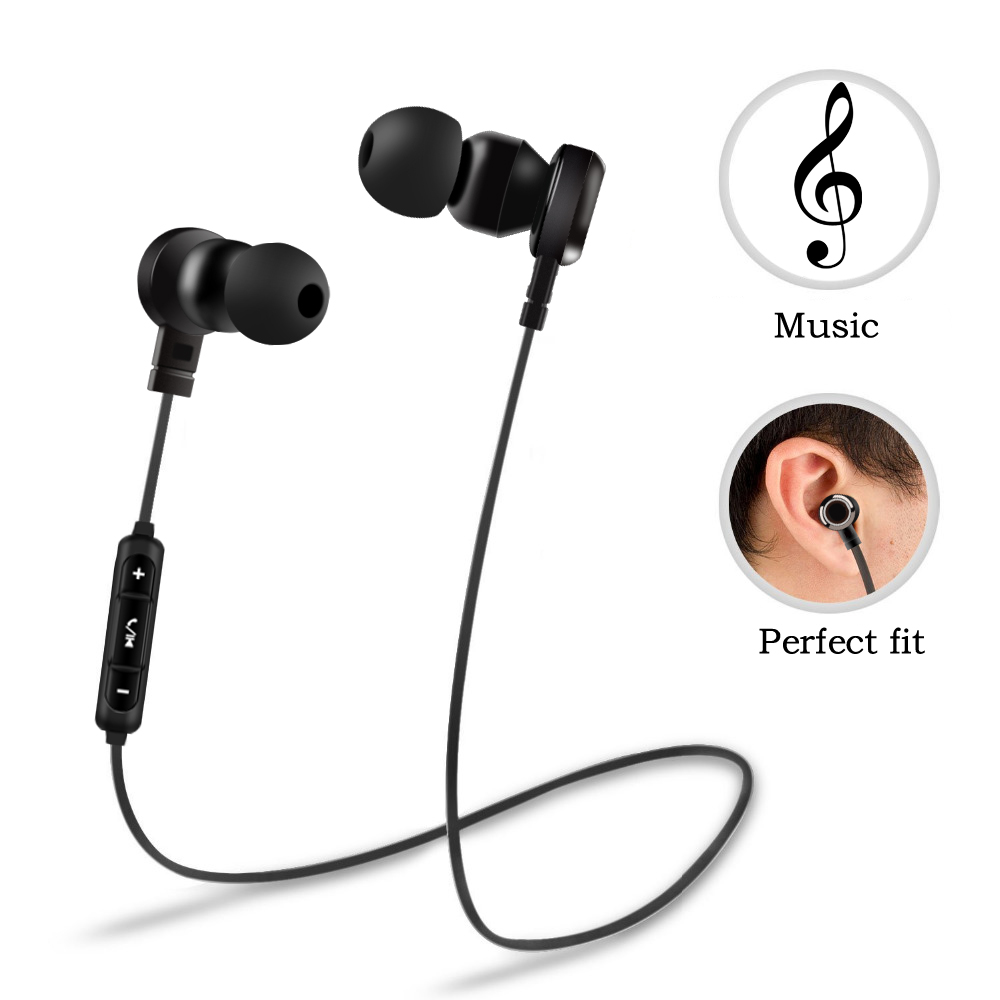 Brand Bluetooth Headphones Wireless Earphone with Mic Stereo Bass Sport Headset Earbuds for mobile phones Bluetooth Headset
