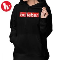 Justin Bieber Clothes Purpose Tour Hoodie BELIEBER Hoodies Cotton White Hoodies Women Streetwear Sweet Graphic Pullover Hoodie