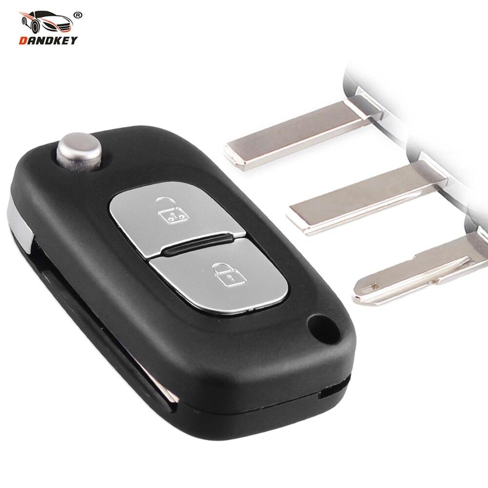Dandkey 2 Buttons For Renault Clio Megane Kangoo Modus With HU83 VA2 NE73 Blade Car Key Case Remote Flip Folding Car Key Shell