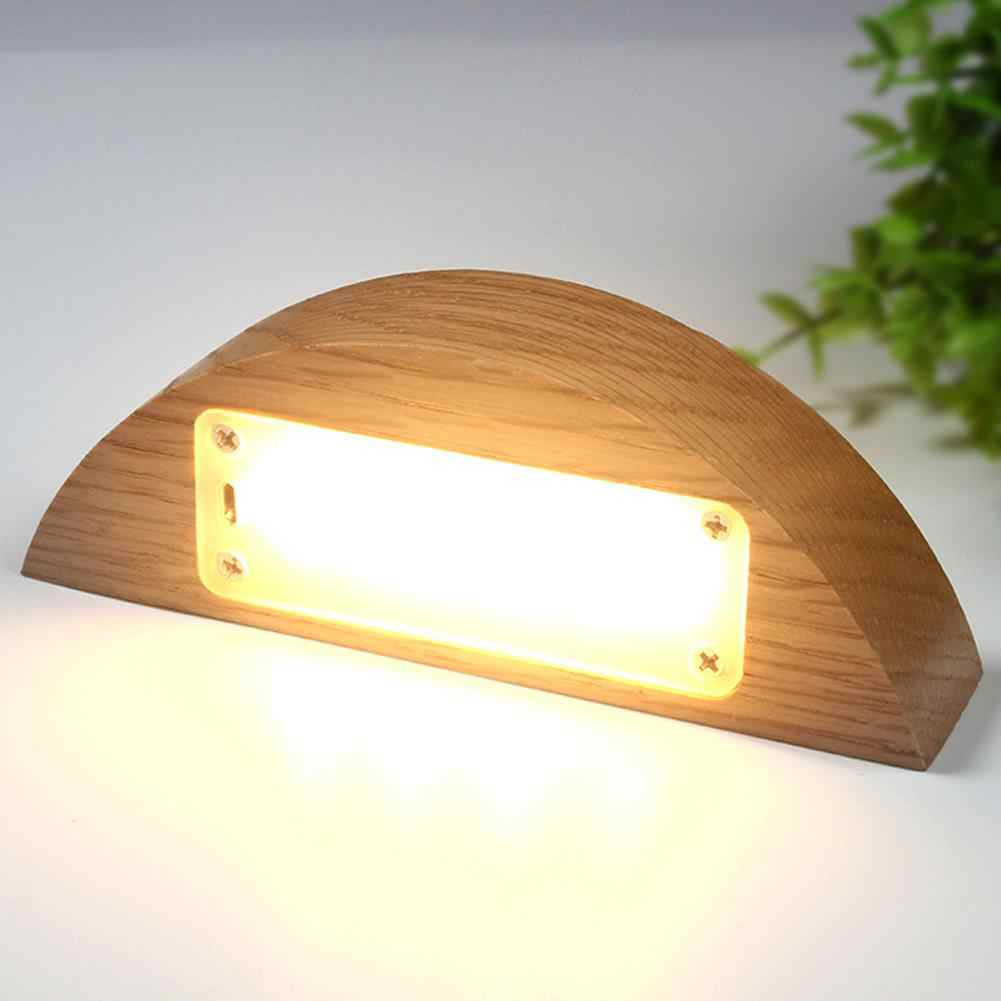 LumiParty светодиодный USB Перезаряжаемые, забота о глазах, деревянная настольная лампа + акрил ночник для домашний декор офисного стола теплый белый свет