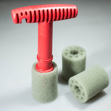 Car Wash Detail Cleaning Sponge Form Fitting Lug Nut Wheel Cleaning Brush With Handle And Removable Insert form fitting striped shell dress