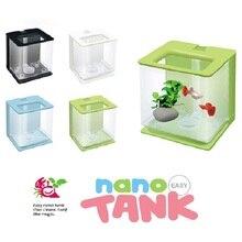 Fish Tank Aquarium Small Breeding Acrylic Clear Box Mini Desktop Home Office Aquarium Decoration Self Clean Fish Tank