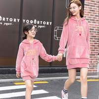 Girl New Pattern Autumn And Winter Thickening Children Hat Long Sleeve Hoodies Sweatshirts