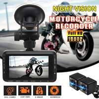 3.0 Inch 1080P Dual Lens Camera Motorcycle DVR Dash Cam Video Recorder Motorbike DVR Front Rear View Night Vision Waterproof