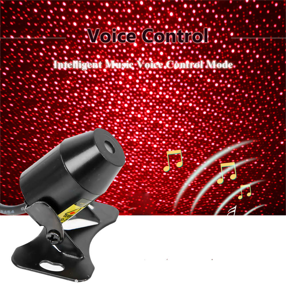 FORAUTO Car Atmosphere Ambient Star Light DJ Colorful Music Sound Lamp Remote Control Spotlight Voice Control LED Light USB Plug