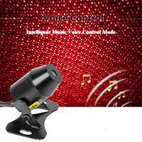 FORAUTO Car Atmosphere Ambient Star Light DJ Colorful Music Sound Lamp Remote Control Spotlight Voice Control LED Light USB Plug