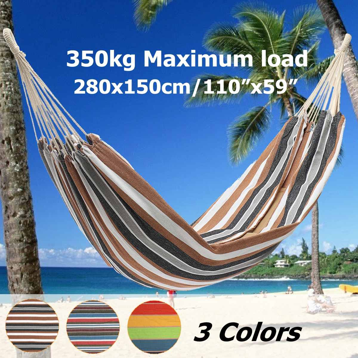 Parachute Double Hammock Swing Hanging Camping Travel Portable Swing Bed Max Load 350kgParachute Double Hammock Swing Hanging Camping Travel Portable Swing Bed Max Load 350kg