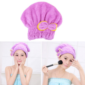 HOOMIN Quickly Dry Hair Hat Shower Cap Microfiber Bathroom Hats Wrapped Towels Home Textile Bath Accessories