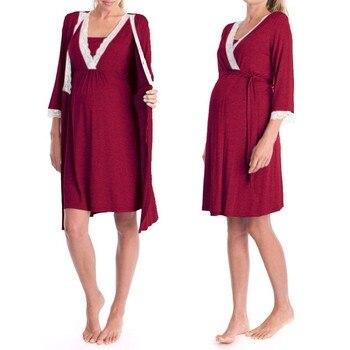 85b027a1 Embarazo y maternidad pijamas ropa de dormir de enfermería embarazadas  pijamas de lactancia materna ...