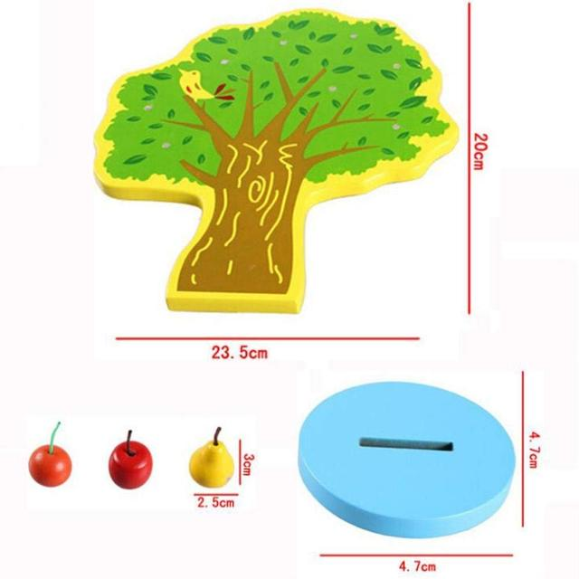 Fruit Tree Toy with Magnetic Pears for Kids