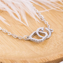 New Arrivals Fashion 925 Sterling Silver Geometric Square Circle Pendant Necklaces For Women Jewelry Collar Colar(China)