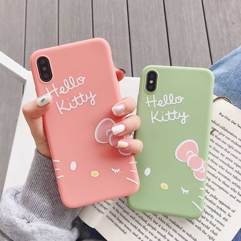 c894176302233d Hello Kitty Case Cartoon Silicone Soft TPU Case For iPhone 6 6 S 7 8 Plus
