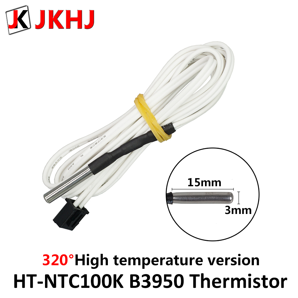 High Temperature Version HT-NTC100K B3950 Thermistor Temperature Sensor For High Temperature Filament 3D Printer Parts