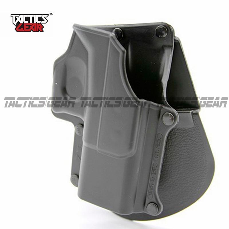 Cinturón de mano derecha de caza negro, plataforma de pala, pistola táctica, funda de protección para Glock 17 19 22 23 31 32 34 35