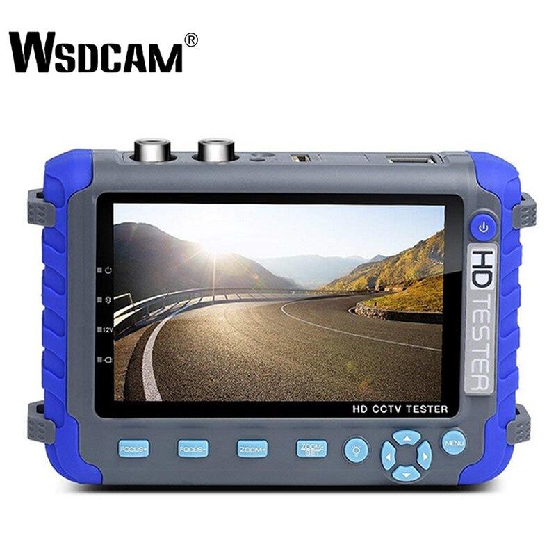 Wsdcam Professional CCTV Testing Tool IV8C 5 Inch TFT LCD 5MP AHD TVI 4MP CVI CVBS