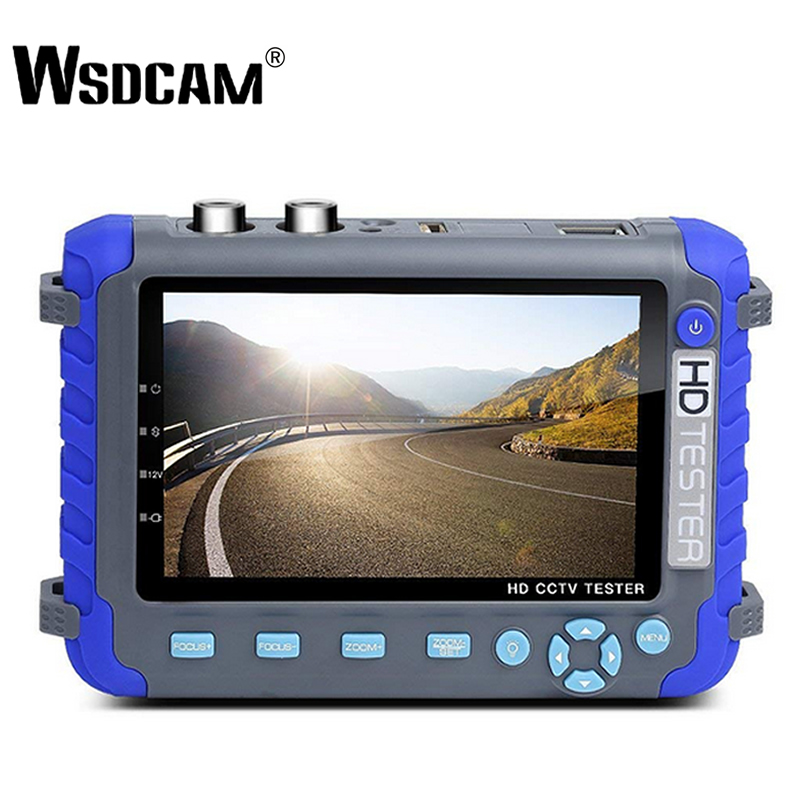 Wsdcam Professional CCTV Testing Tool IV8C 5 Inch TFT LCD 5MP AHD TVI 4MP CVI CVBS CCTV Camera Tester Monitor Support PTZ UTP-in CCTV Monitor & Display from Security & Protection    1