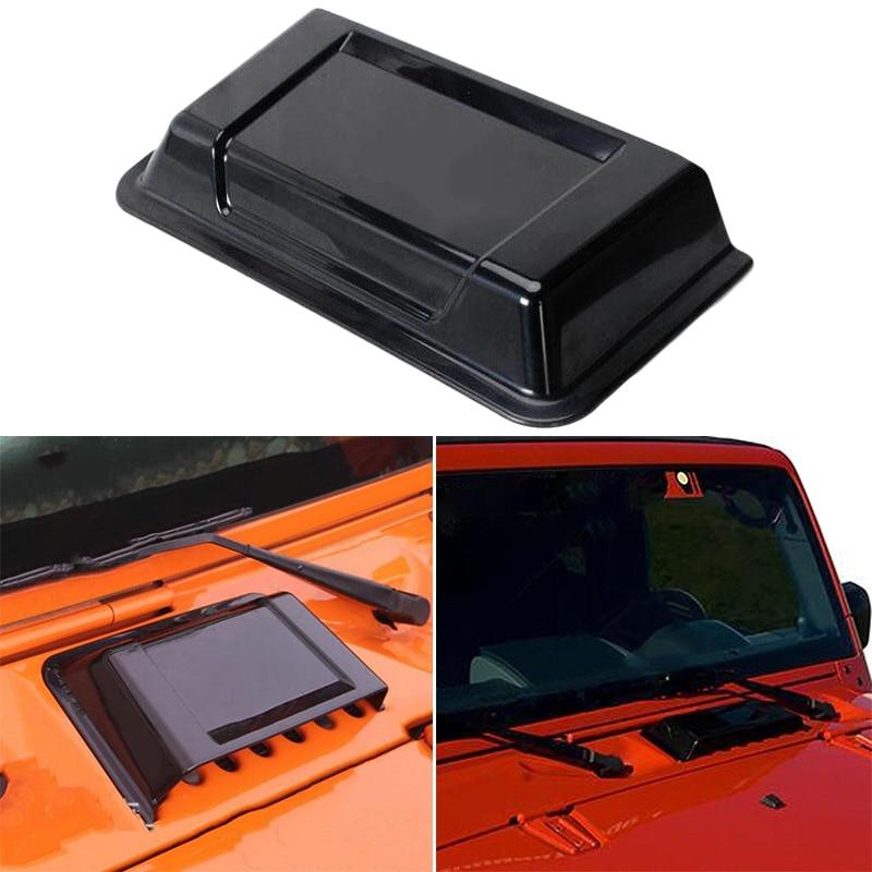 1 pieza de 100% negro a estrenar y de alta calidad de plástico ABS capó de ventilación de aire campana cuchara para Jeep Wrangler TJ JK 1998-2018 INJORA 2 uds Metal Pedal y caja de receptor para 1:10 RC Rock Crawler coche Axial Scx10 SCX10 II 90046 Jeep Wrangler Shell cuerpo