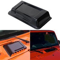 1pc Black Car Cowl Heater Air Vent Hood Scoop ABS Plastic For Jeep Wrangler TJ JK 1998-2018 Auto Air Vent Hood Cover Accessories