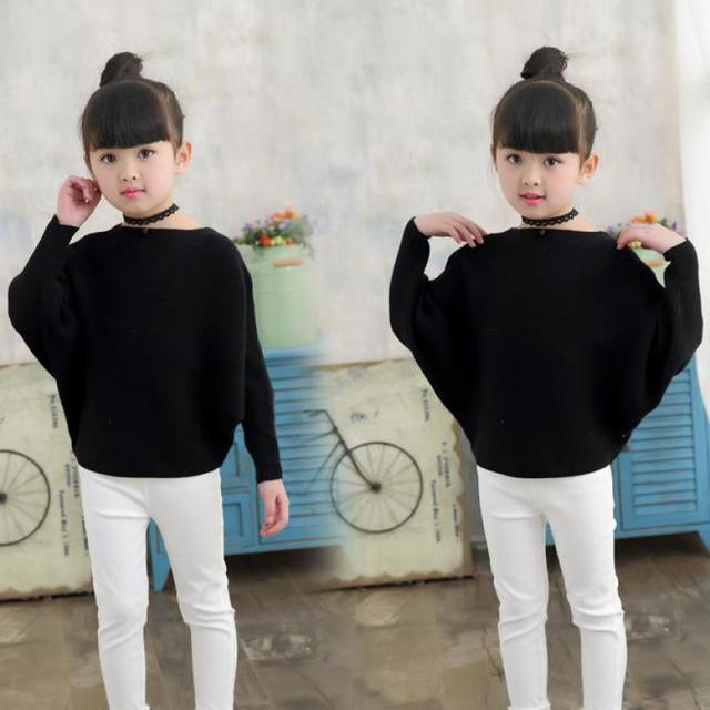 2019 Teenage Girls Sweater Kids Clothes Girls Cotton Children Sweater Girls College Style Girls Outerwear Christmas Sweater 9 14