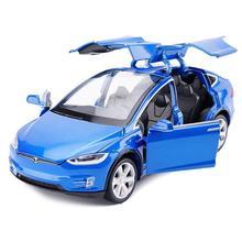 Игрушечный автомобиль из сплава, вытяжные машинки со звуком и светильник, детские игрушки, 1:32 Масштаб, модель X 90(синий