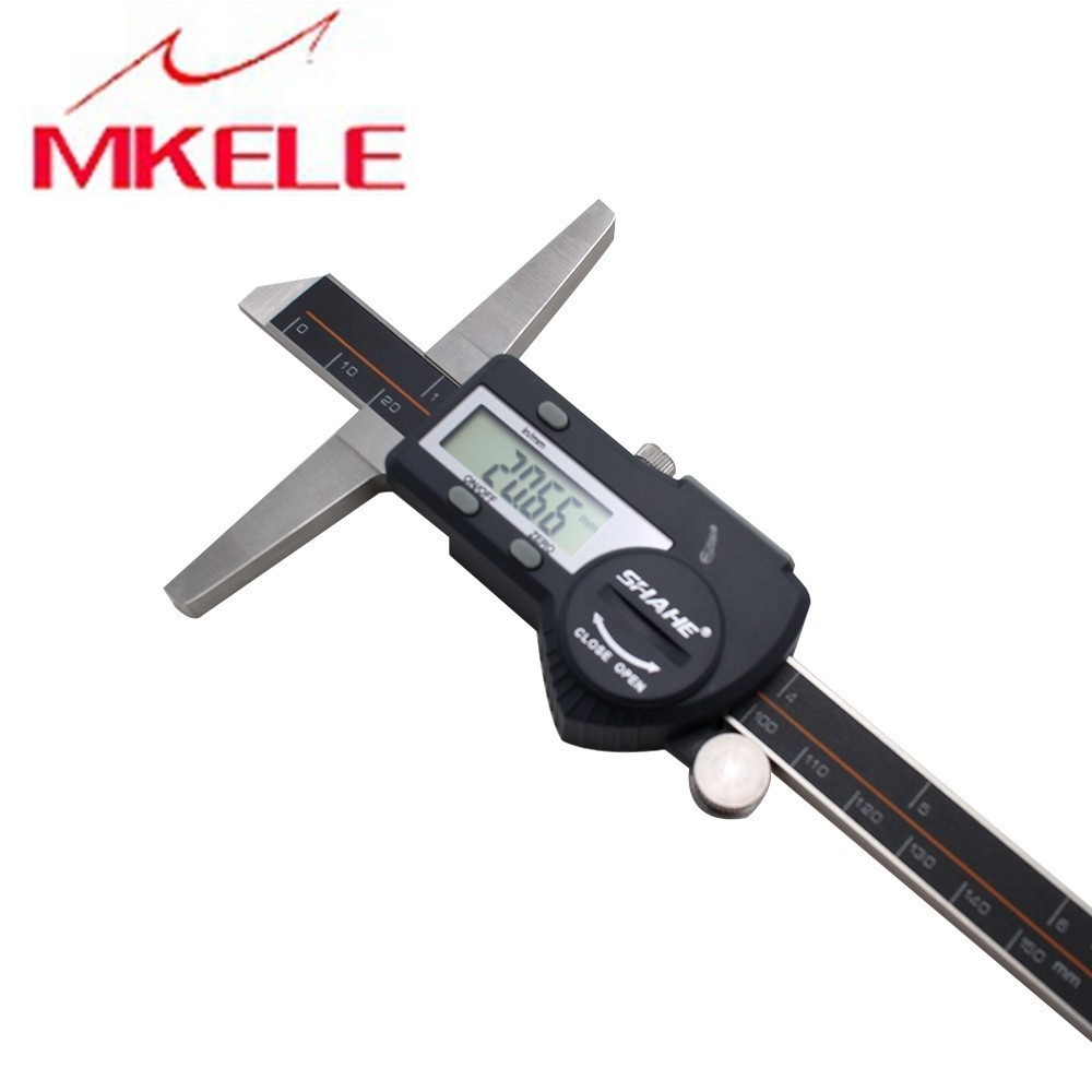 0 200mm IP54 Stainless Steel Waterproof Electronic Digital Caliper Depth Vernier Caliper Micrometer Measuring Tools in Calipers from Tools