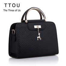 TTOU Elegant Handbag 2019 Women PU Leather Bag Large Capacity Shoulder