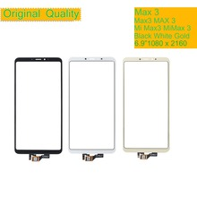 10Pcs/lot ORIGINAL For Xiaomi Mi Max 3 MiMax3 Max3 Touch Screen Digitizer Touch Panel Sensor Front Outer Glass MAX 3 Touchscreen 10pcs for xiaomi 3 mi 3 m3 mi3 new black touch screen digitizer glass panel replacement free shipping tracking no