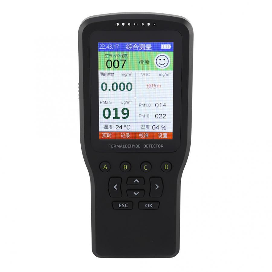 Professional PM2.5 ในครัวเรือนเครื่องตรวจจับฟอร์มาลดีไฮด์ TVOC Haze Meter Monitor ในร่ม Home Air คุณภาพ Pluviometro USB Charge-ใน ชิ้นส่วนและอุปกรณ์เสริม จาก บ้านและสวน บน   2