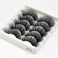 5Pairs 3D Mink Hair False Eyelashes Natural/Thick Long Eye Lashes