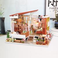 American Dream Mini Handmade Cottage DIY Dollhouse Dreamlike House Without Dustproof Cover Early Education Baby Toy