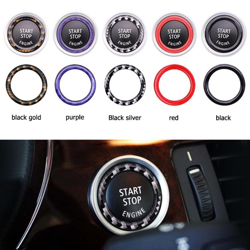 Автомобильный двигатель старт стоп кнопка украшения кольцо отделка автомобильные аксессуары Стайлинг для BMW 1/3/5 серии E87 E90 E60 320