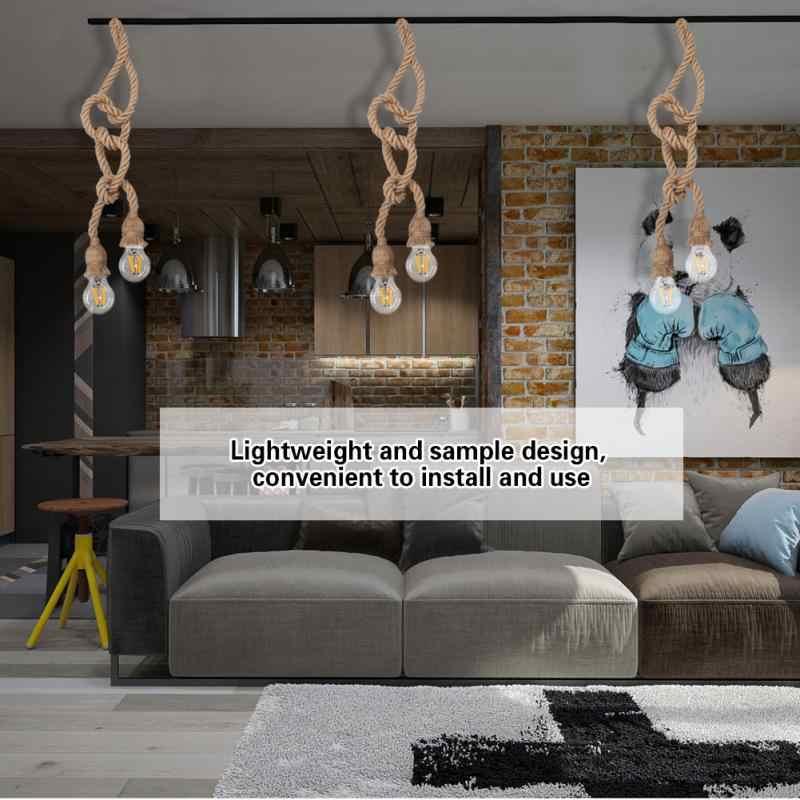 1,5 м E27Socket 85-265 V ретро старинный держатель лампы кулон пеньковая веревка подвесной потолок нити светильник цоколь лампы держатель