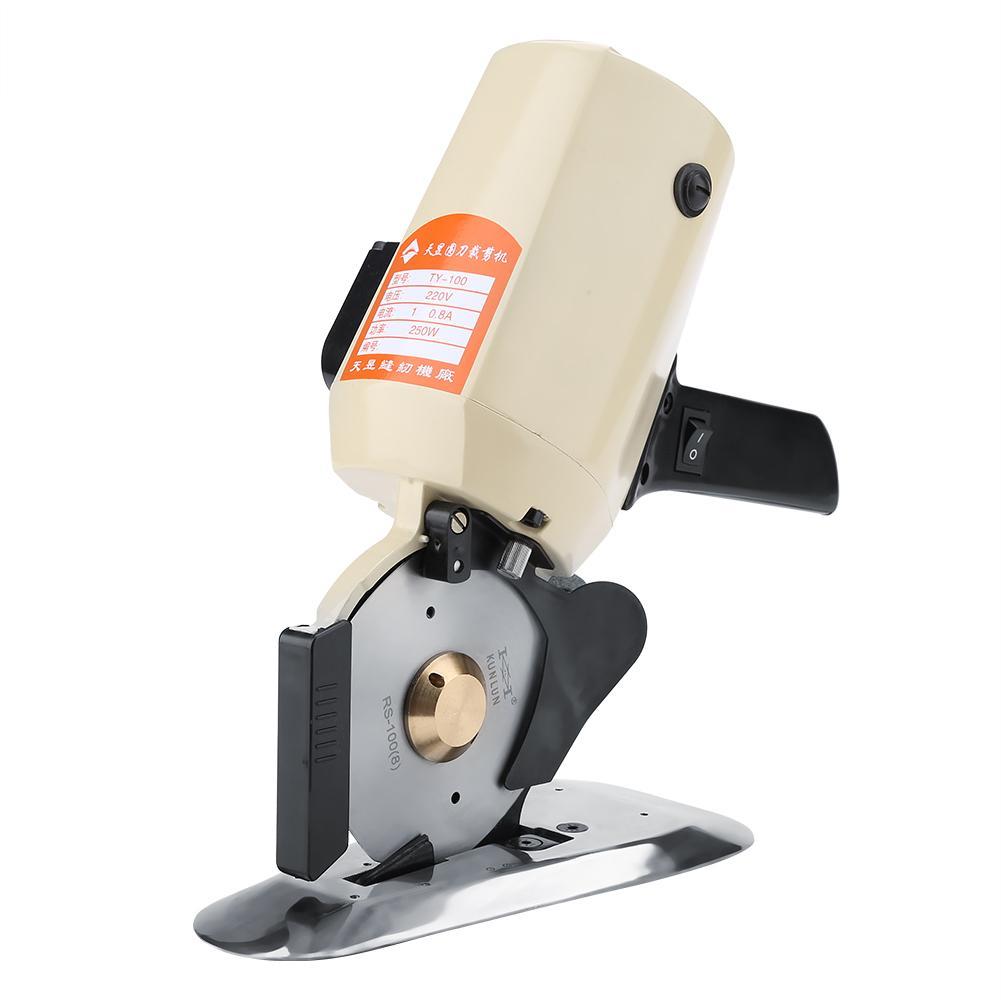 TY 100 Blade Electric Round Knife Cloth Cutter Fabric Cutting Machine Stitch 110V 220V High Accuracy