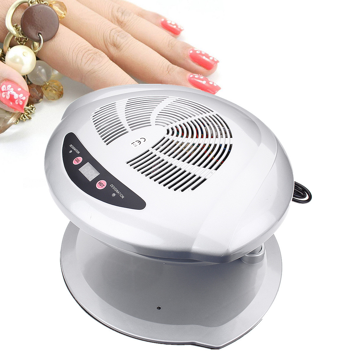 Auto Induction Sensors Nail Dryer Fan 220V Warm & Cool Wind UV Gel Polish Varnish Drying Manicure Blower For Both Hands and Toes