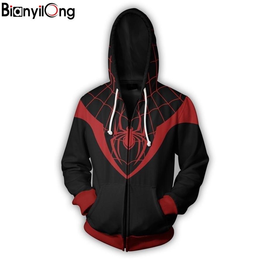 Bianyilong nouvelle mode hommes femmes Cool blouson à capuche hommes femmes 3d imprimé rouge toile d'araignée Style Streetwear vêtements à manches longues