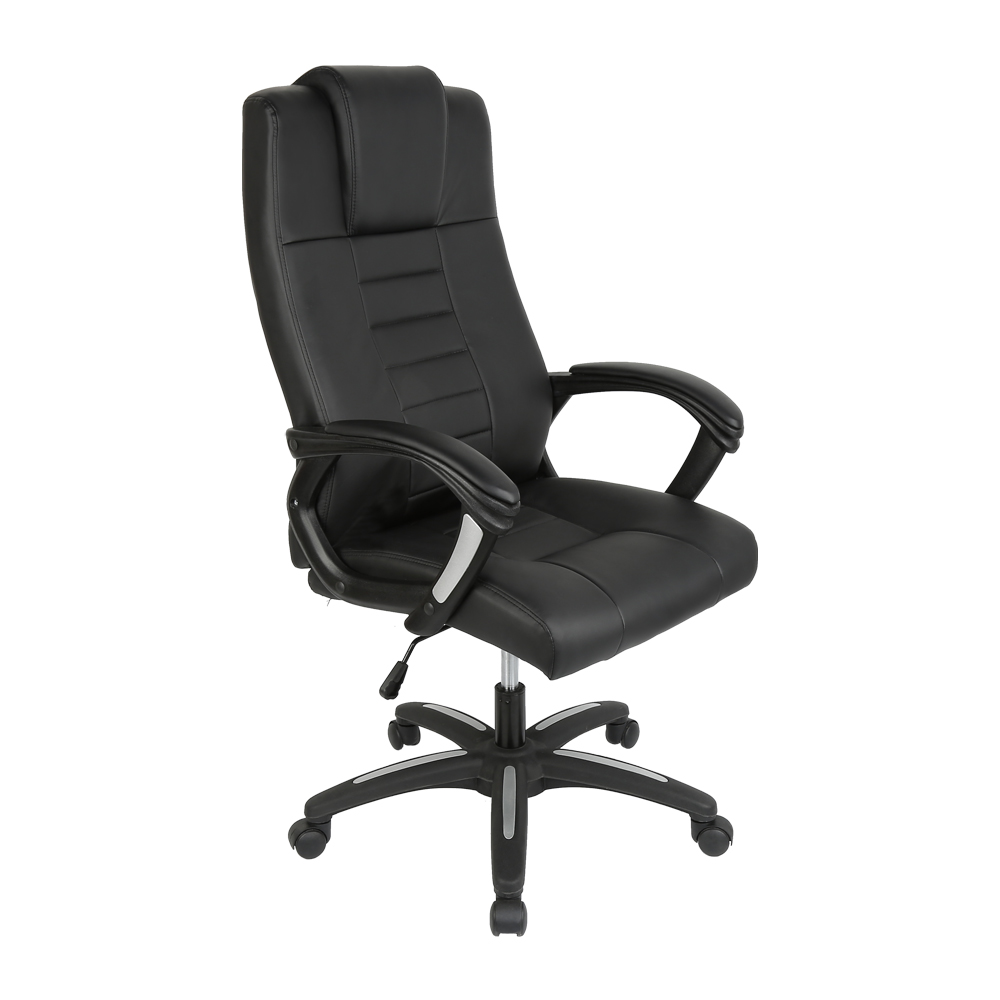 Adjustable Office Computer Chair Executive Ergonomic High-Back Faux Leather Armchair Study Meeting Chair Office Supplies HWC
