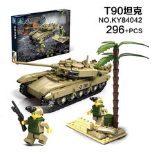 Modern Classic Tank T90 Leclerc M1A2 Challenger 2 Building Blocks Kit Military Army Toy Tank Models Tank Mdel(China)