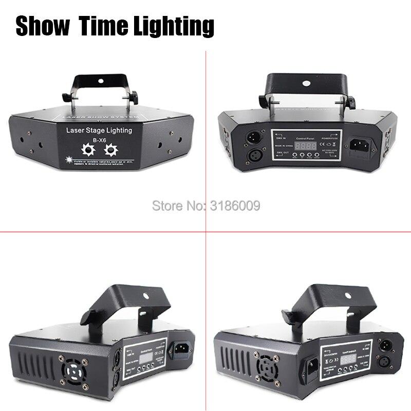 Show Time 6 lentille DMX rouge vert bleu faisceau RGB 16 modèles Laser Scanner lumière maison fête DJ scène éclairage KTV Show secteur laser - 2
