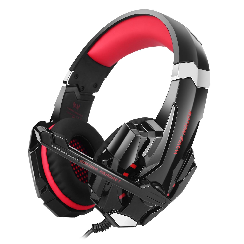 KOTION chaque casque de jeu stéréo GS900 3.5mm + casque de joueur filaire USB avec micro pour ordinateur portable/téléphone XBOX 360/PS3/PS4/PC
