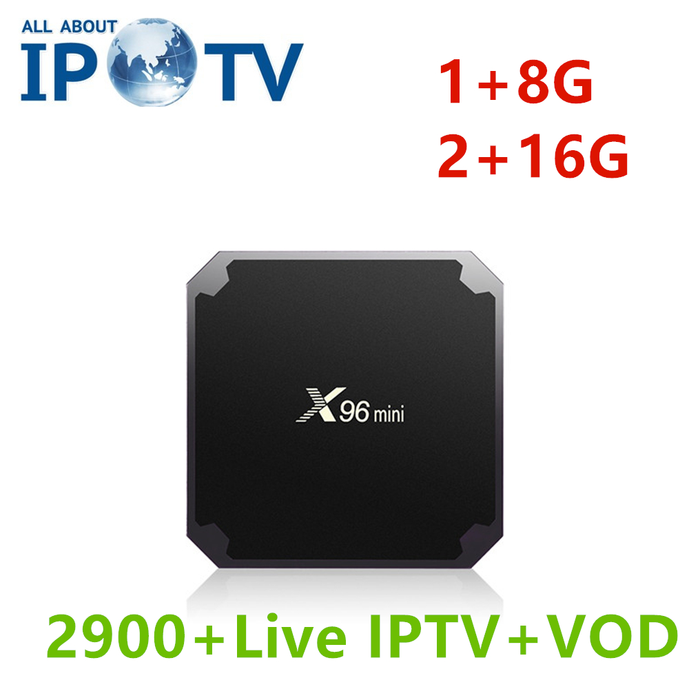 Original X96 mini Android Set Top Box Europe IPTV UK Italy Germany France  USA Czech Iran