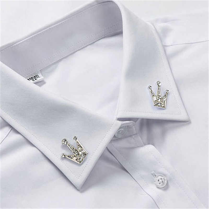Zircon Mahkota Bros untuk Wanita Crystal Bros Pin untuk Pria Perhiasan Perak untuk Wanita Pria Wanita Bros Kerah Pin Set pria Hadiah