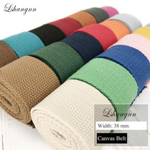 Lshangnn 10 Meter 38mm Polyester/Cotton Ribbon Canvas Webbing/Strap Tape For Bag Strapping Belt Making Sewing DIY Craft Home