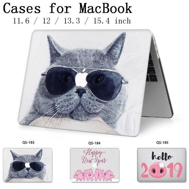עבור מחשב נייד מקרה שרוול למחשב נייד MacBook 13.3 15.4 אינץ עבור MacBook רשתית 11 12 עם מסך מגן מקלדת קוב
