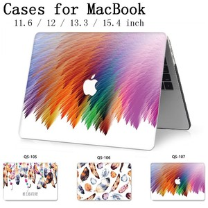 Image 1 - For Notebook MacBook New Laptop Case Sleeve For MacBook Air Pro Retina 11 12 13.3 15.4 Inch With Screen Protector Keyboard Cove