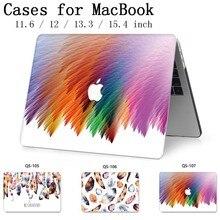 עבור מחשב נייד MacBook חדש מחשב נייד מקרה שרוול עבור MacBook רשתית 11 12 13.3 15.4 אינץ עם מסך מגן מקלדת קוב