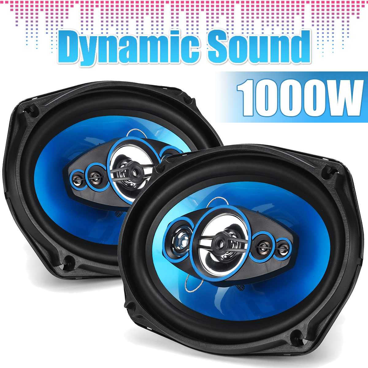 2Pcs 12V Car Speakers And Subwoofer 6x9 Inch 1000W 2-way Auto Vehicle Coaxial Speaker HIFI Audio Horn Universal Loundspeaker