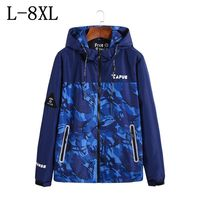5XL 6XL 7XL 8XL 2018 New Spring Trench Coat Men Brand Clothing Top Quality Male Long Camouflage Trench Coat Windbreaker Jacket