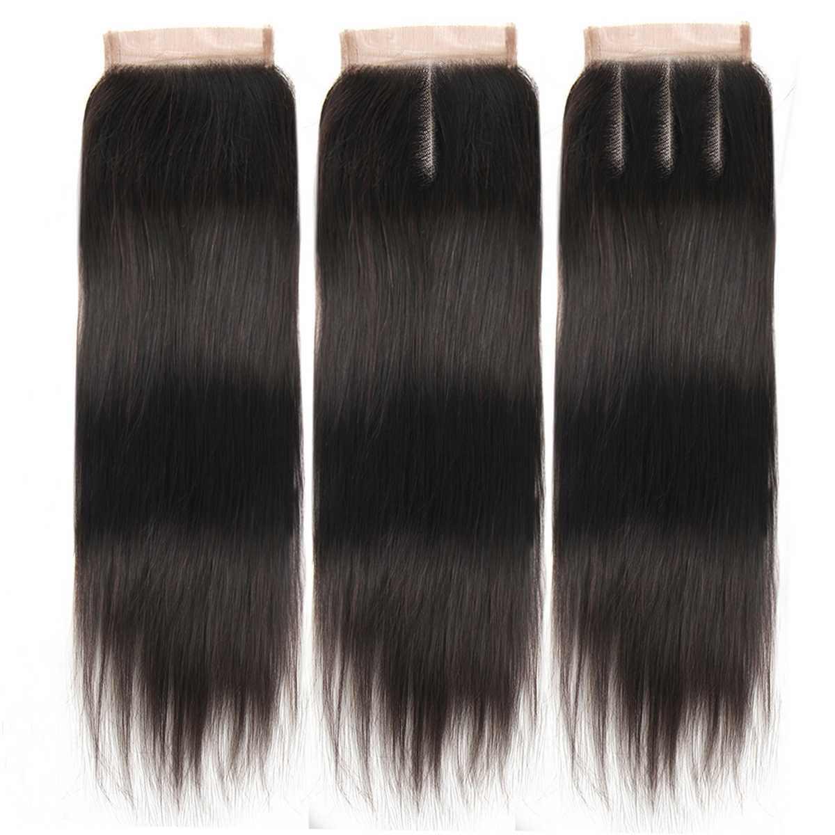 Brasileño recto de la armadura del pelo paquetes de 16 pulgadas paquete brasileño del pelo de la Virgen extensiones de la armadura del pelo humano peluca para mujeres